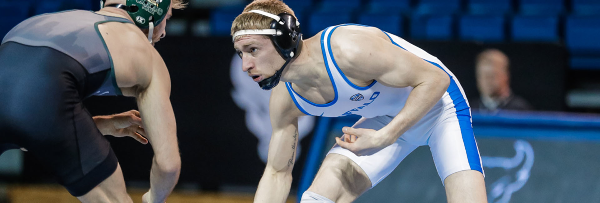 Photo of UB Wrestling athlete Derek Spann