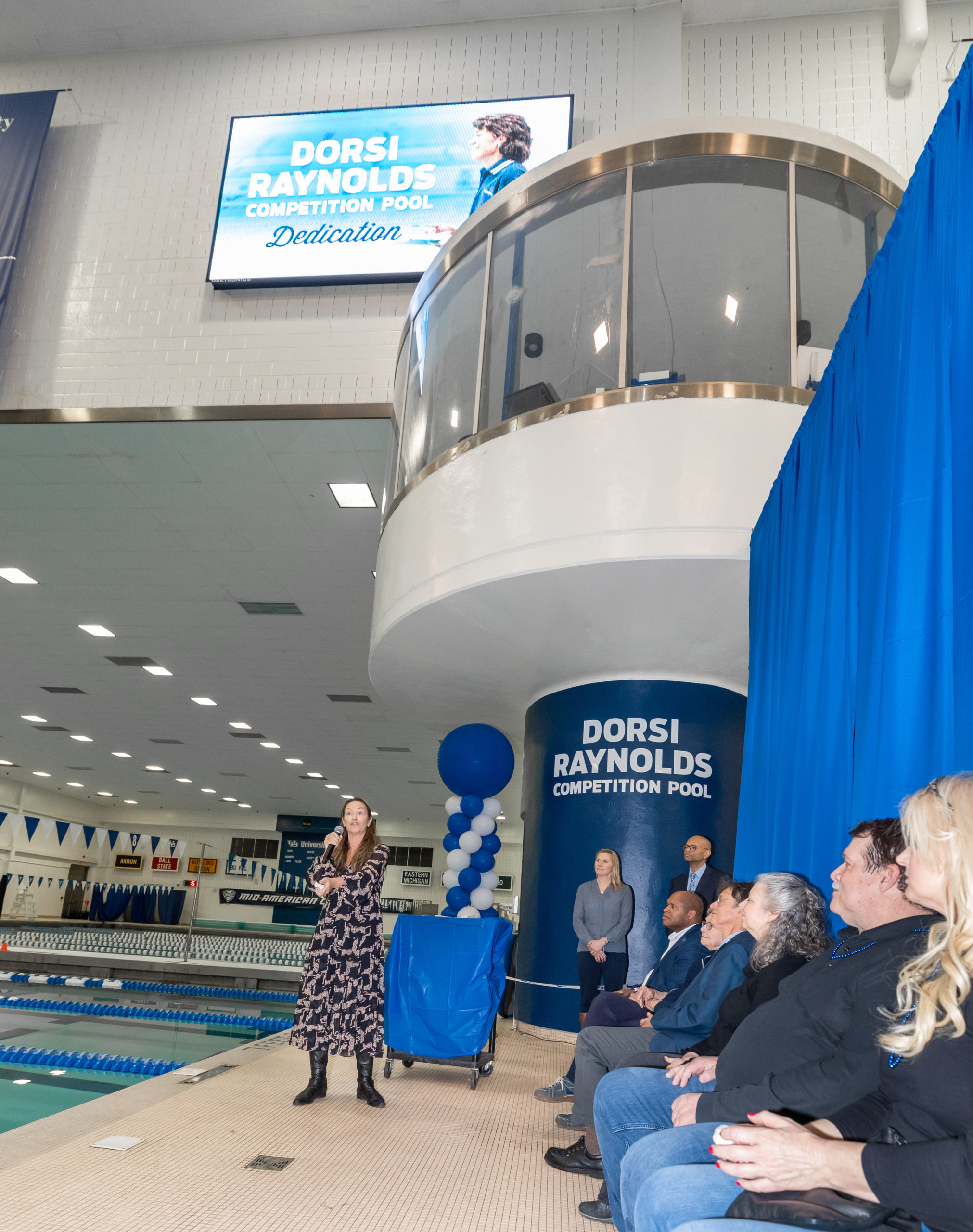 Photo from the Dorsi Raynolds Competition Pool naming ceremony