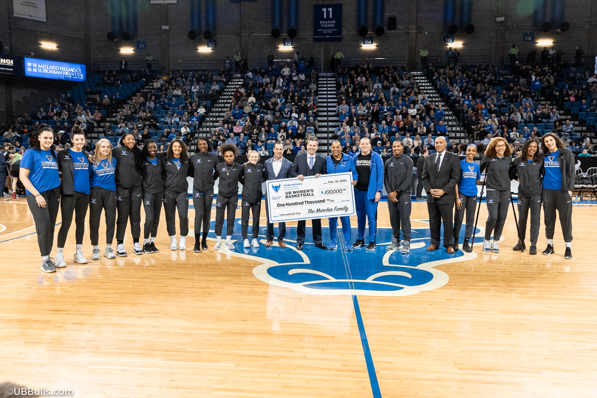 UB Women's Basketball team check presentation photo